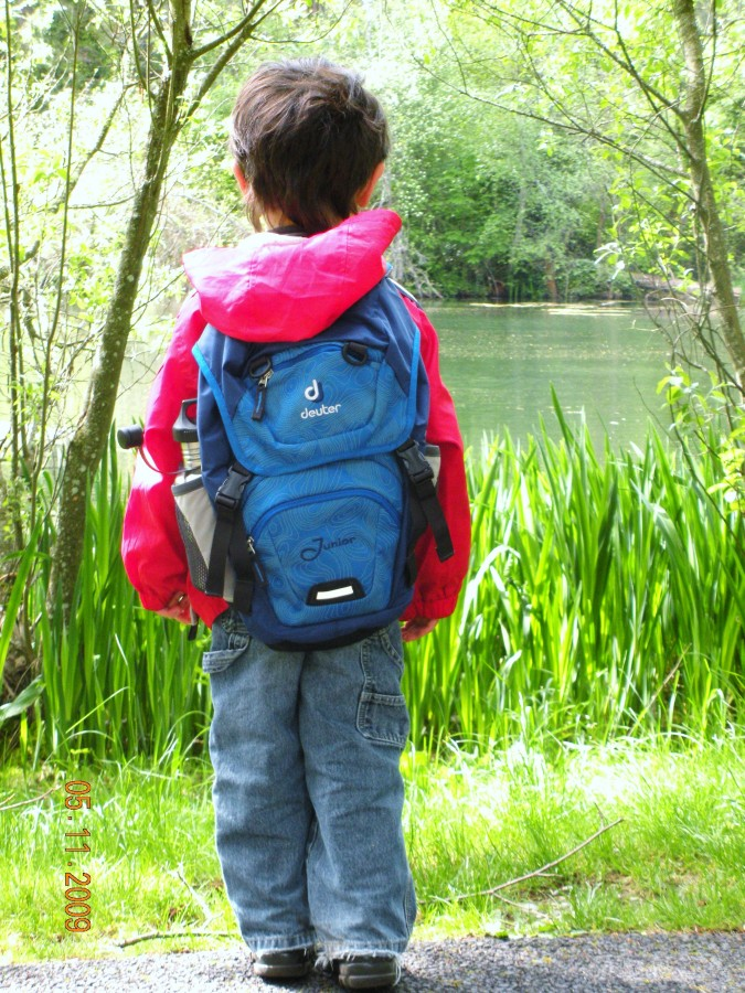 My son's blue Deuter backpack