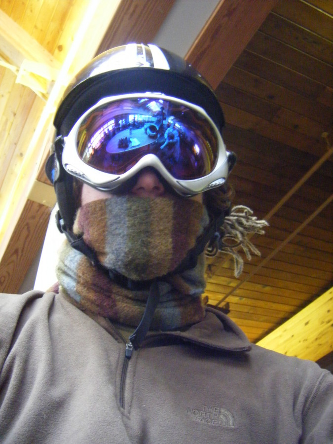My Wisdom Goggles at Sugarloaf, Maine.