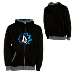 volcom moto stone basic hooded full zip .