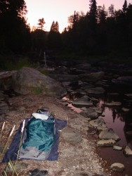 OR Alpine Bivy on Tettegouche River in Minnesota