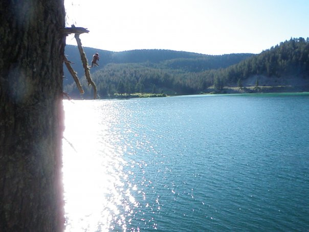 Cliff Lake Rope Swing w/ my Wavefarer Short
