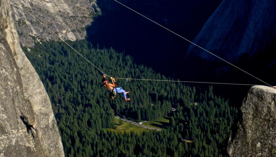 ye olde Tyrolean traverse