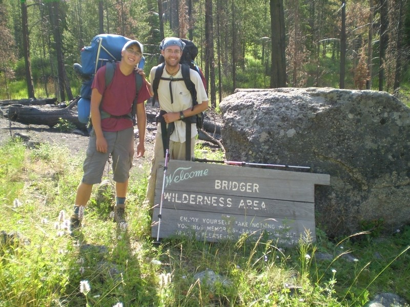 Pole at the end of 65 miles in the Wind River Range