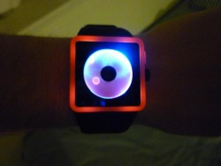 Nixon Newton Black/Orange/Sunrize LED