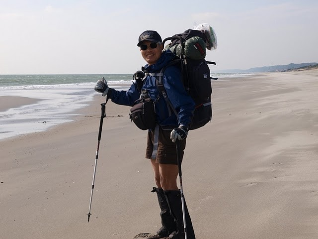 The coastal backpacking in Atsumi peninsula