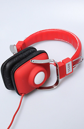 WeSC Maraca Headphones true Red