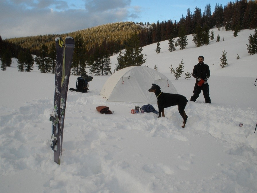 Snow camping with the Salt Creek