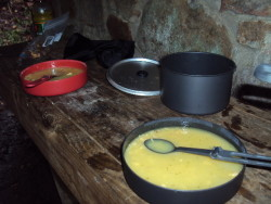 Dinner at Cosby Knob shelter - GSMNP