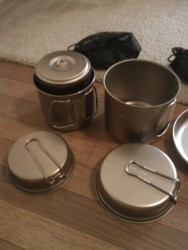 Mini Solo Cookset nesting in Ti 900