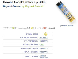 http://www.ewg.org/2010sunscreen/finding-the-best-sunscreens/302026/Beyond-Coast<wbr />al-Active-Lip-Balm/