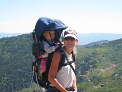 Happy Hiker and Kid