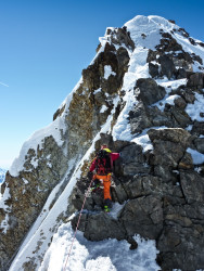Nanotechs on the Summit Ridge of Finsteraarhorn