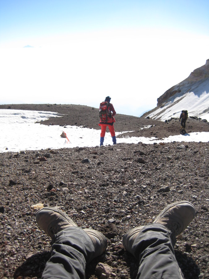 Taking a break on Iztaccihuatl