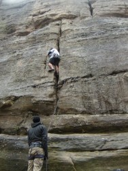 Late season climbing at the Red River Gorge