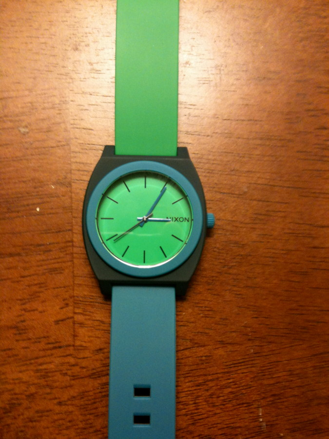 time teller p navy-green-blue