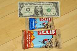 Size difference between mini  and regular Clifbars