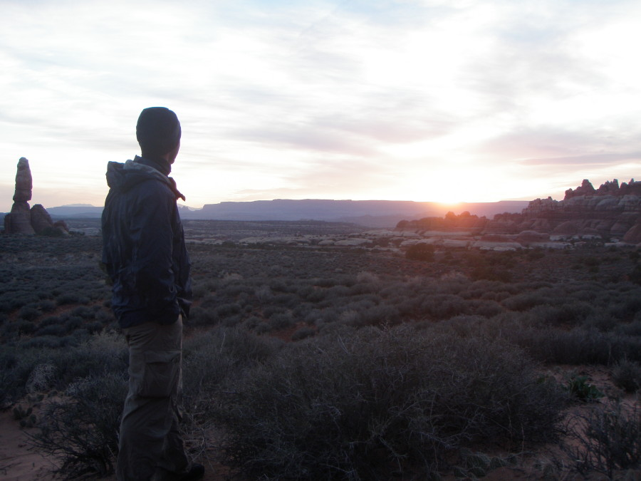 Watching the sunset in Moab Canyonlands