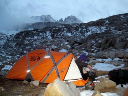 Camp below Forester Pass, October 22, -20 C
