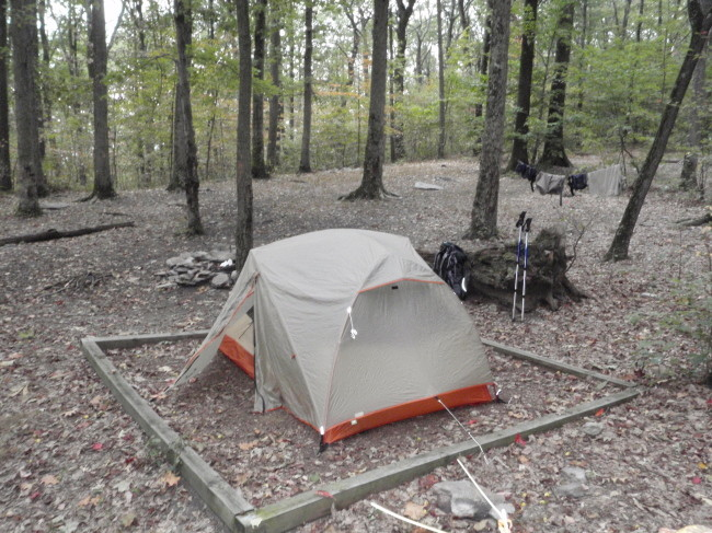 AT crampton gap tent site