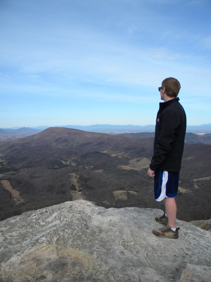 Beating the Wind on McAfees Knob in Early Spring