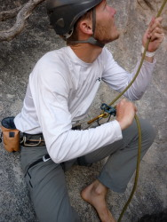 Belaying off the harness with ATC Guide