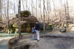 My son and I on the trail in Sipsey Wilderness