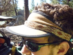 Dave in his Kavu Visor, Pyrite