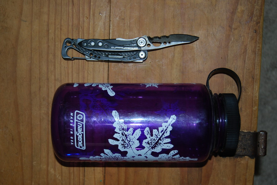 Skeletool with 1L Nalgene