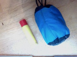 headnet packed compared to lip balm