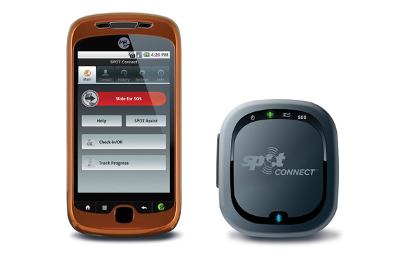 SPOT Connect Pairs with Smartphone