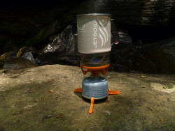 Jetboil Ti at Sipsey Wilderness