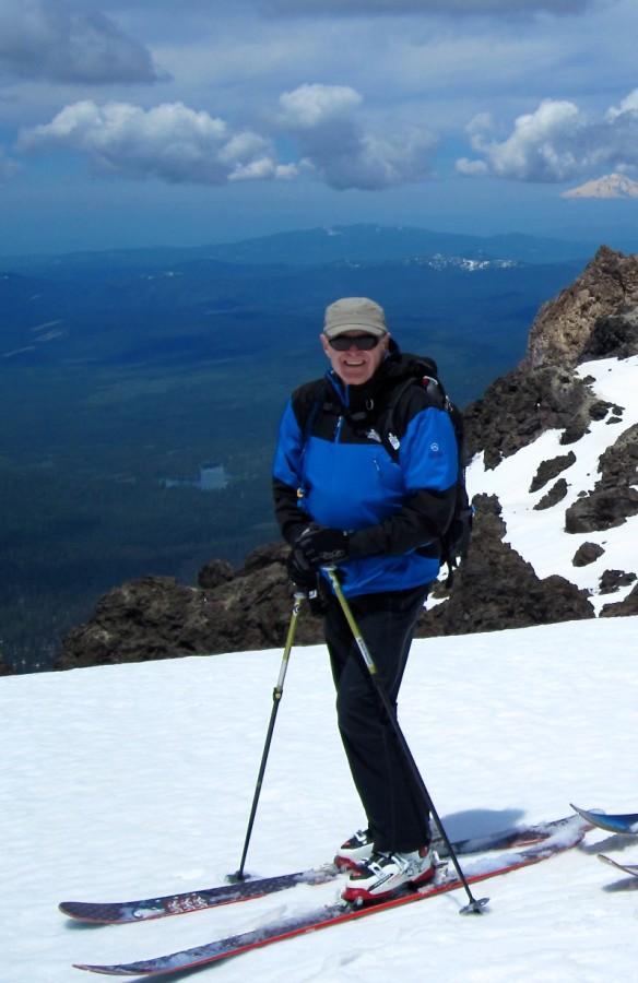 NF stretch Diad jacket on summit of Mt. Lassen