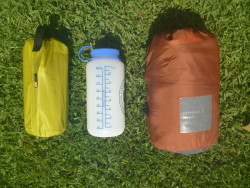 Comparison with a 1L Nalgene and a Exped SynMat 7 Pump