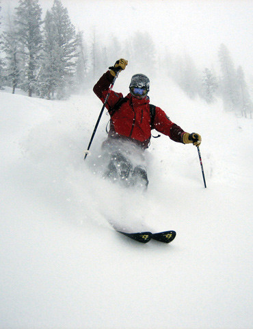 Sporting the Wisdom goggle in a blizzard at Powder Mountain, UT