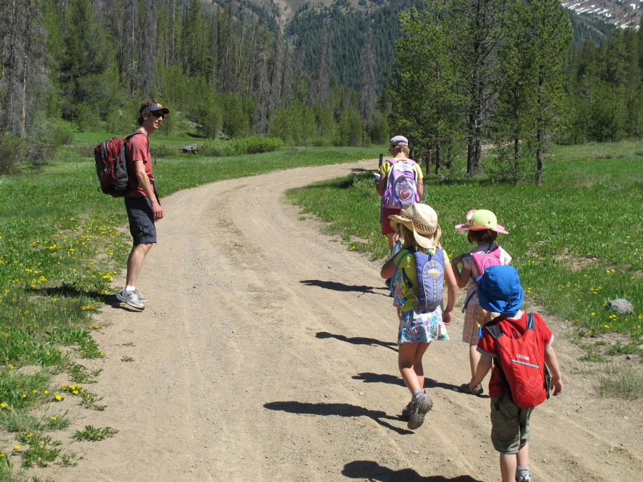 Setting out for a hike in Sun Valley