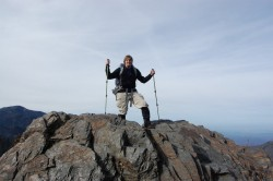 Wearing the OR Mtn High Gaiters on top of Charlies Bunion in the GSMNP