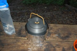 Using the GSI Kettle at a shelter in the GSMNP