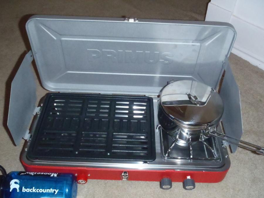 Primus stove with MSR Alpine 1.6L Pot