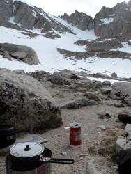 tea time with the MSR Alpinist