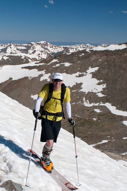 Summer 14er skiing with the Stoic Merino 150 Crew