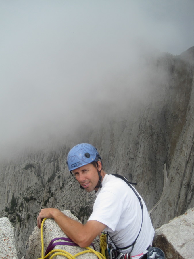 Customized Half Dome atop the Lowe Route