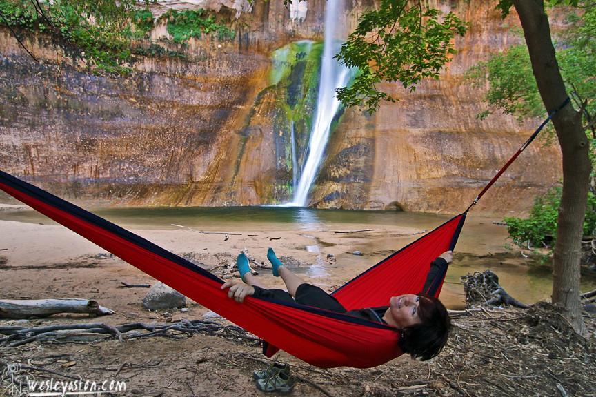 Hanging at Lower Calf Creek
