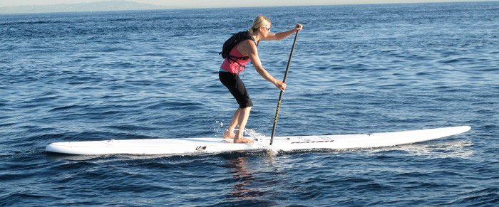 Karen Wrenn PRO Stand Up Paddler wears Soft Kore