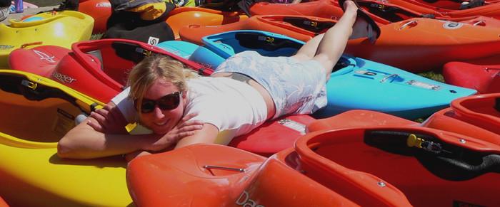 Christie Glissmeyer PRO White Water Kayaker wears Eden, Calais, Georgia and Basis