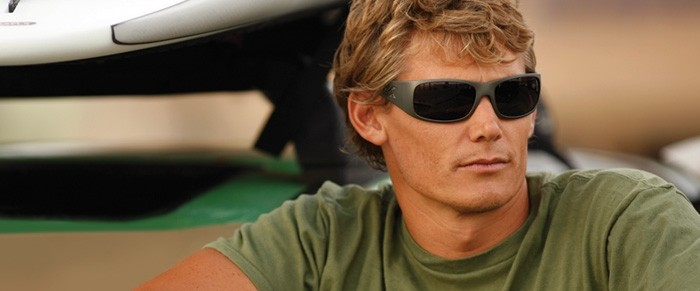 Jamie Mitchell 10x world champion Molokai-2-Oahu wearing Kaenon Polarized