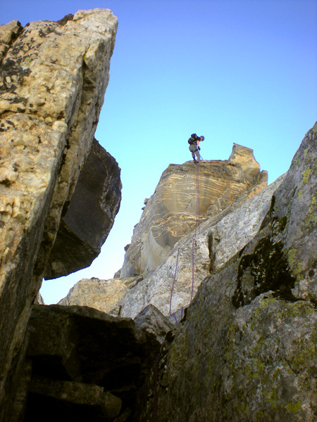 TK rapping the East Prong on a Grand Traverse attempt.