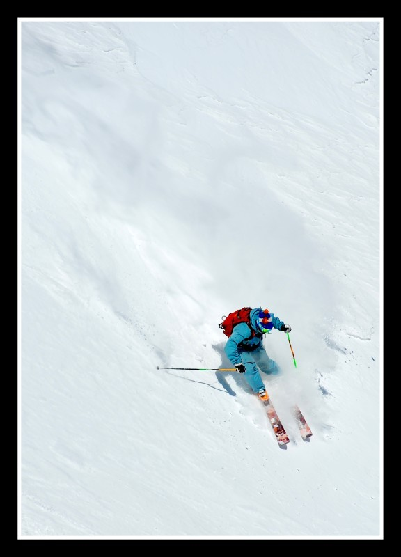 Steep skiing on Quandary Peak