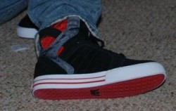Black/Red/Silver Skytops