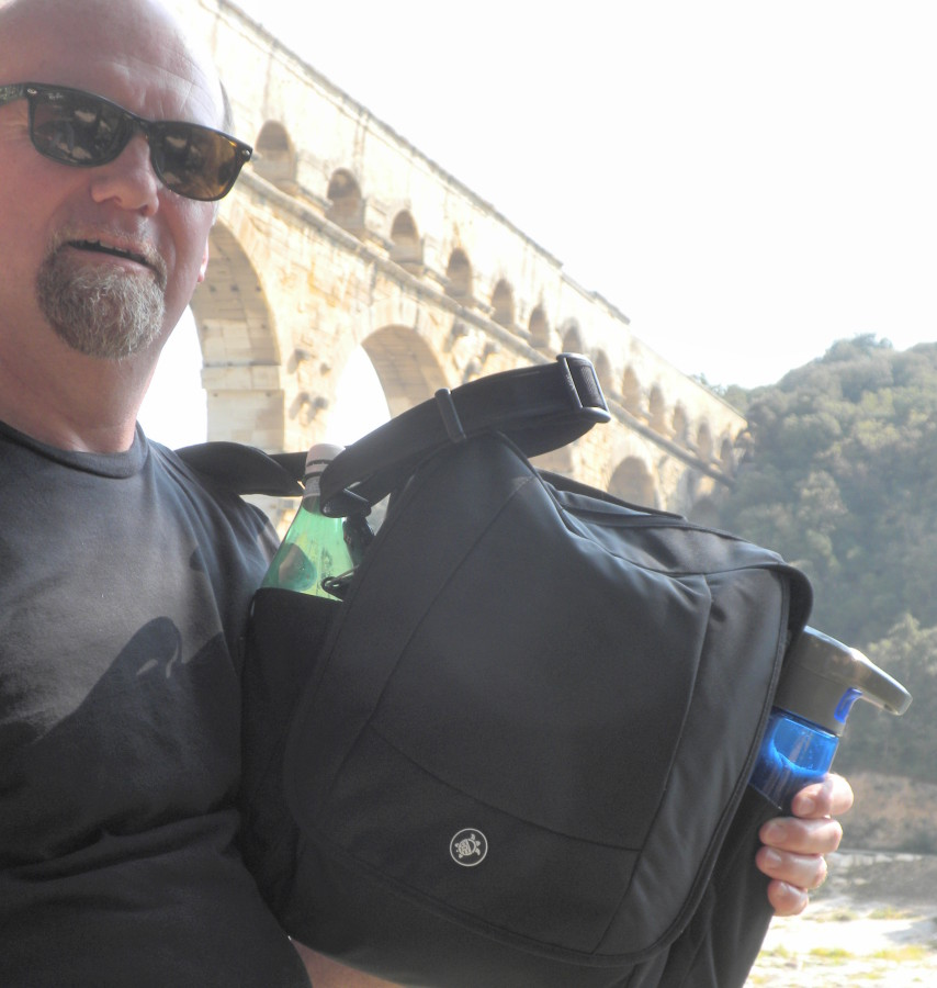 PacSafe at Pont du Gard, France