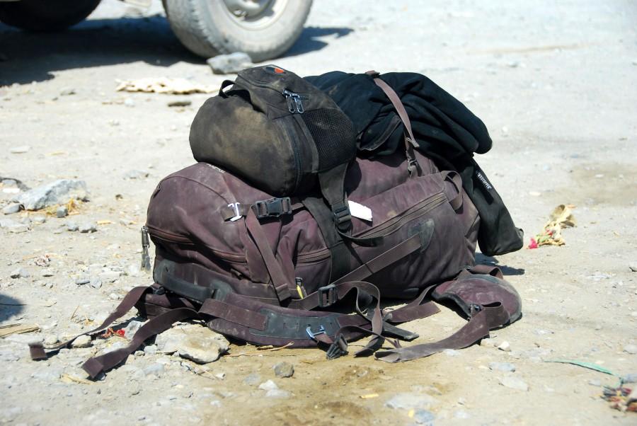 Backpack resting